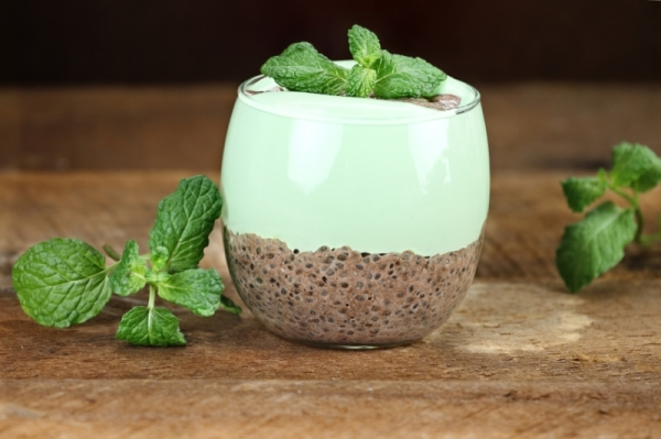 Mint Chocolate Chia Seed Pudding